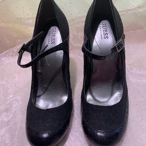 Black Mary Jane heels.